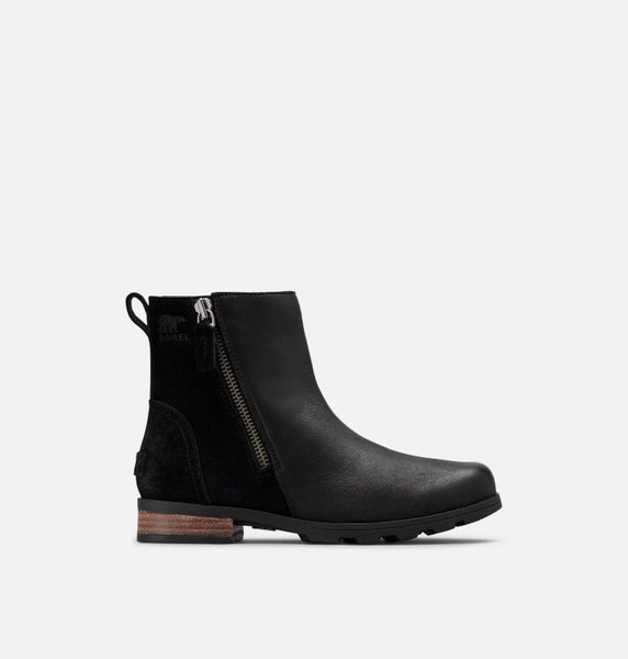 Sorel - Short Ankle Boot with Side Zip Black Leather