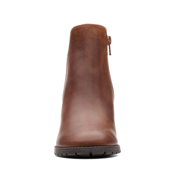 Clarks - Verona Lug Dark Tan Boot