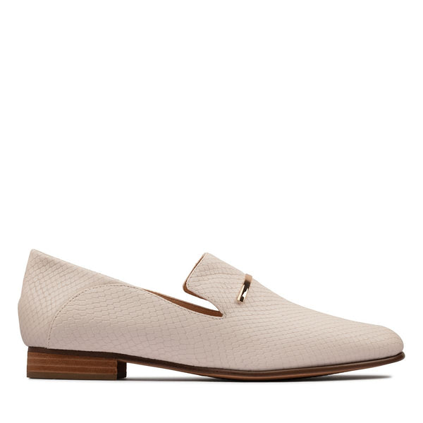 Clarks - Snake Loafer White