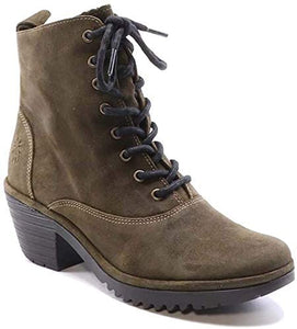 Fly London - Lace-up Boot in Olive