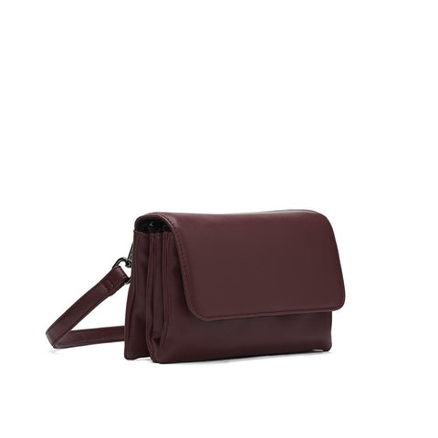 Co-Lab - Triple Crossbody Berry in Vegan Leather