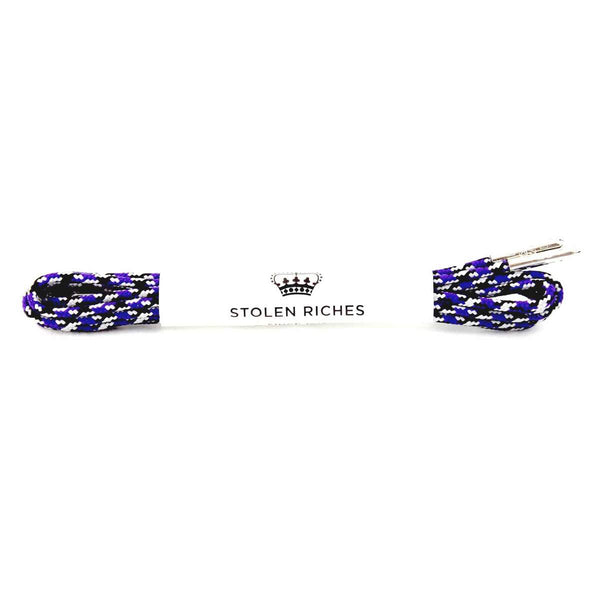 Stolen Riches Laces - Camo Purple (5-6 eyelets)