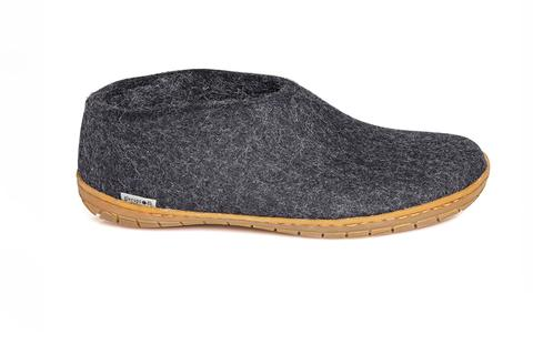 Glerups - Charcoal Shoe Natural Rubber Sole