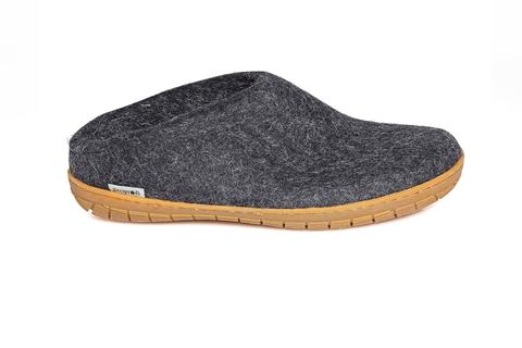Glerups - Charcoal Open Heel Natural Rubber Sole
