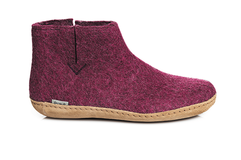 Glerups - Cranberry Boots Leather Sole