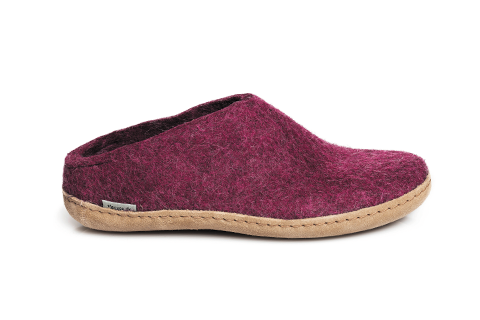 Glerups - Cranberry Open Heel Leather Sole