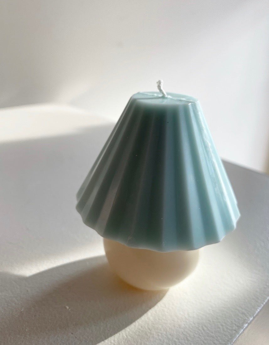 Sunday Skies Studio - The Shade Candle in Blue