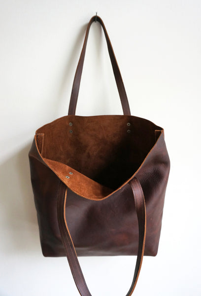 Umbrella Collective - Distressed Leather Tote