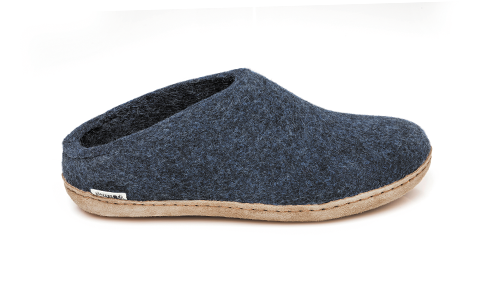Glerups - Denim Open Heel Leather Sole