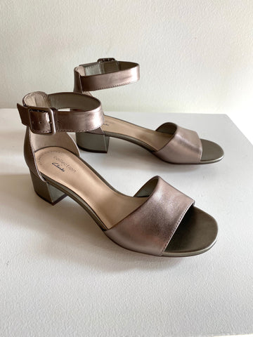 Clarks - Heeled Sandals in Pewter