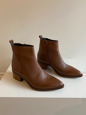 Ateliers - Boone Leather Ankle Boot in Tan