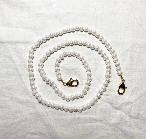 Rachel Rose - Face Mask Chain in Pearl