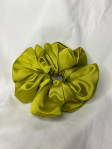 Rachel Rose - Scrunchies in Chartreuse Satin