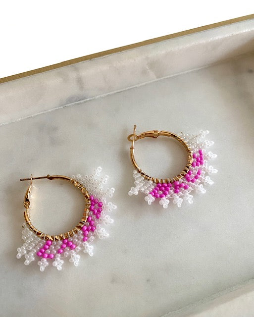 Keitha Keeshig-Tobias - Land Back Small Hoop Earrings