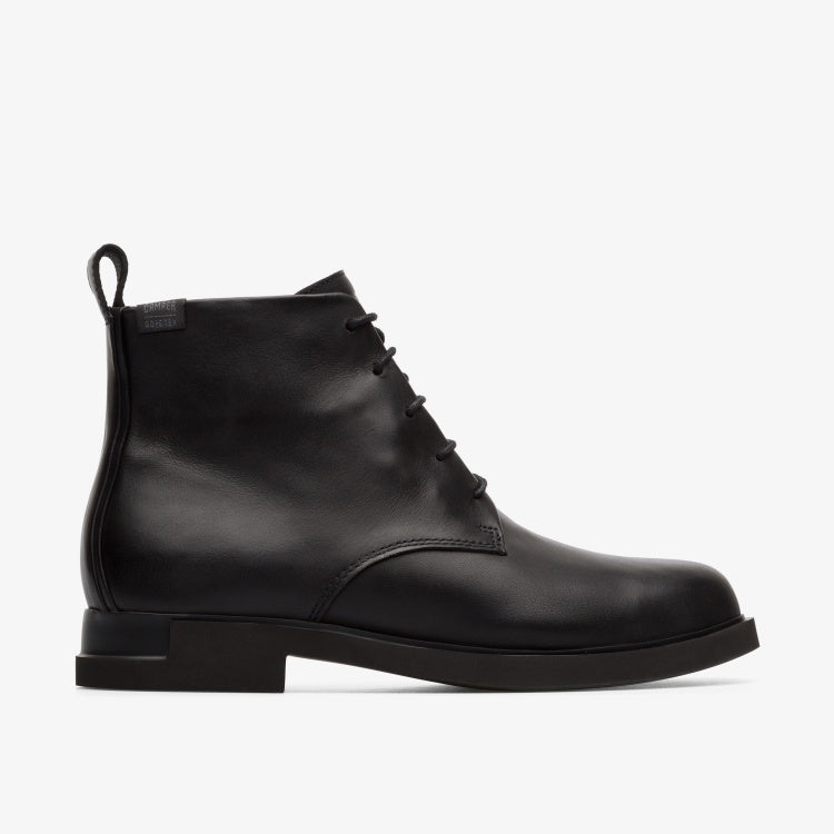 Camper - Waterproof Leather Lace Up Boot in Black