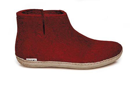 Glerups - Red Boots Leather Sole