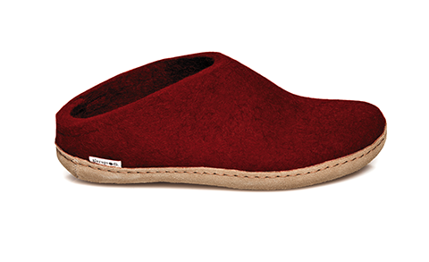 Glerups - Red Open Heel Leather Sole