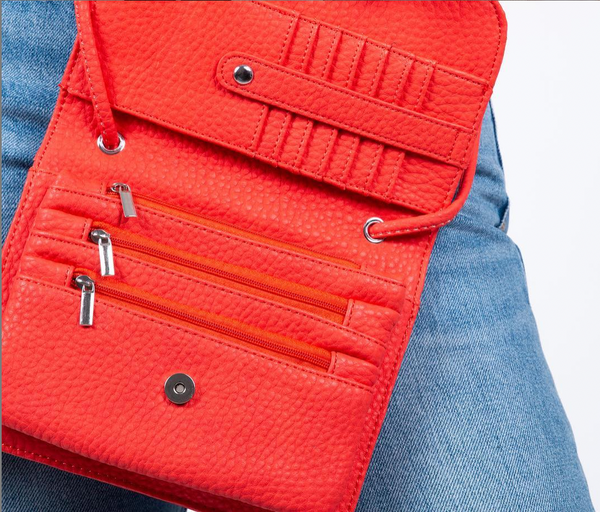 Co-Lab - Crossbody Wallet in Red