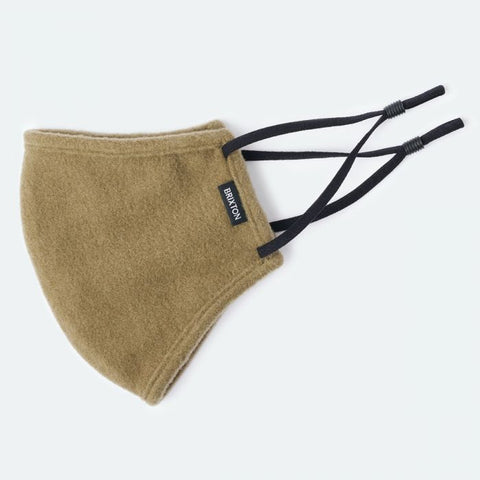 Brixton - Fleece Face Mask in Olive