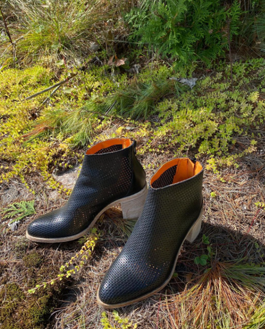 Ateliers - Perforated Boot in Black Leather