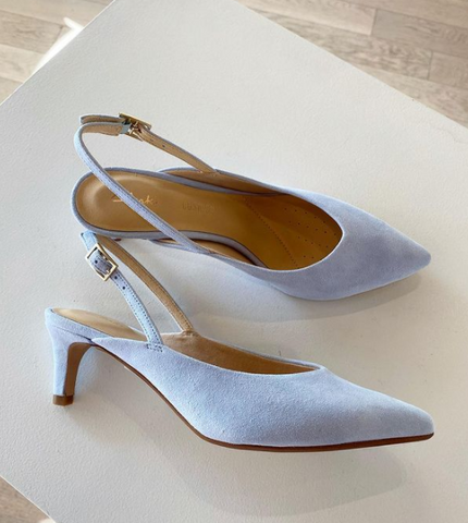 Clarks - Low Sling-back in Sky Blue