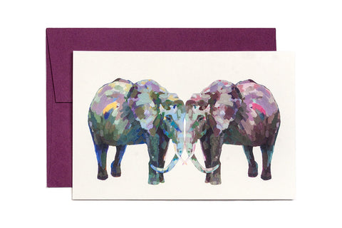 Ashforth Press - Elephant Kiss Card