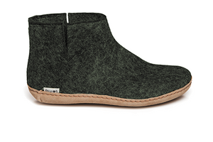 Glerups - Forest Green Boots Leather Sole