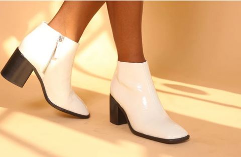 Intentionally Blank - Patent Leather Booties
