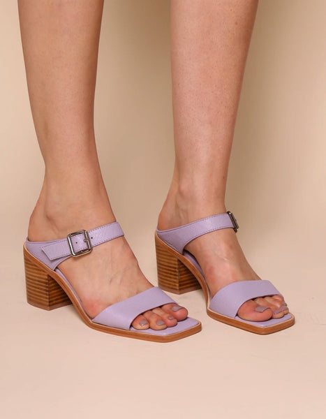 Intentionally Blank - Square Toe Sandals in Lilac