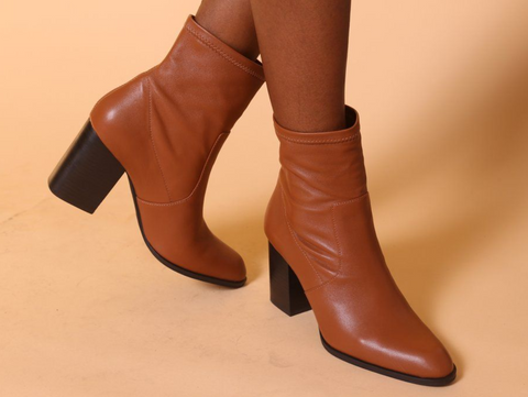 Intentionally Blank - Pull-On Leather Boots in Tan