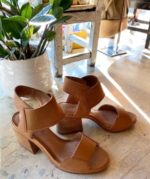 Sorel - Heeled Sandals in Camel