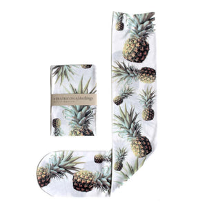 Strathcona - White Pineapple Stockings