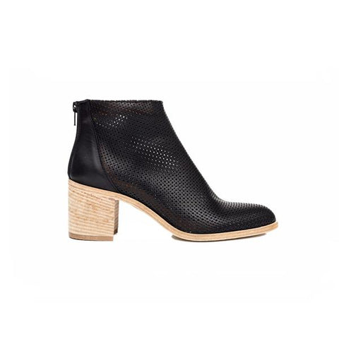 Ateliers - Perforated Boot Black Leather