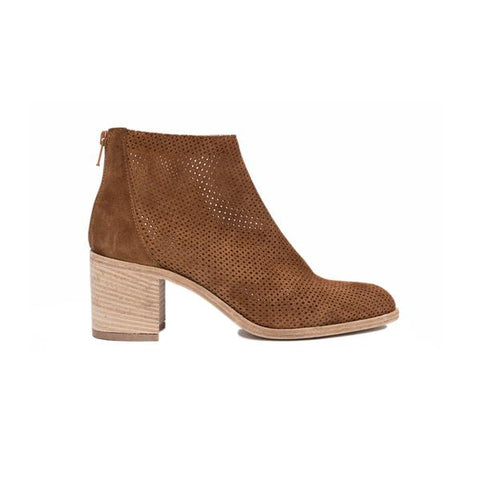 Ateliers - Perforated Boot in Tan Suede