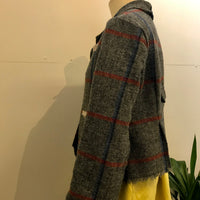 Lined wool crop jacket