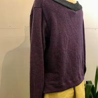 Plum colour pure wool jumper