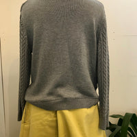 Cable wool cotton mix jumper
