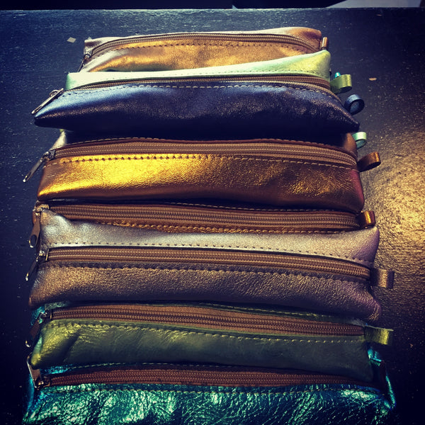 moroccan leather pouches /pencil cases