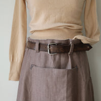Heavy linen workwear style skirt