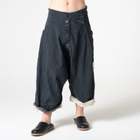 wide leg canvas pants