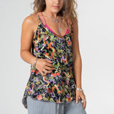 satin dragon fabric camisole top.