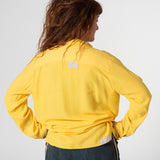 oversized dyed yellow viscose shirt