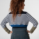 stripe crop jumper