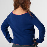 Purple wool jumper with Paolo patch