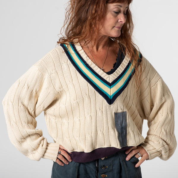 Crop cricket jumper