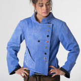 Moroccan blue dyed canvas jacket.