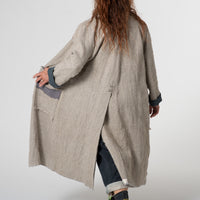 Jute full-length coat