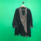 Charcoal light muslin oversized kimono style jacket