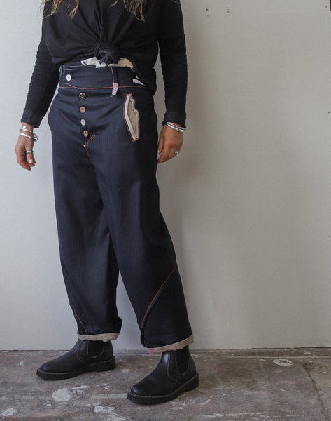 British wool curve Trousers