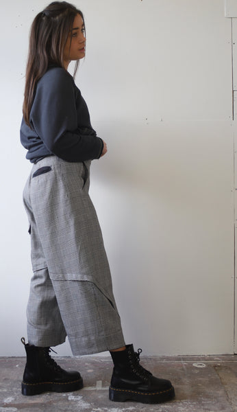 Lightweight wool check Trousers